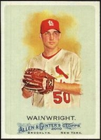 2010 Topps Allen and Ginter Adam Wainwright Baseball Card