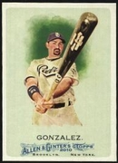 2010 Topps Allen and Ginter Adrian Gonzalez Baseball Card