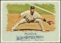 2010 Topps Allen and Ginter Albert Pujols Baseball Card