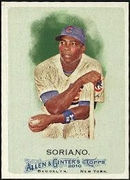 2010 Topps Allen and Ginter Alfonso Soriano Baseball Card
