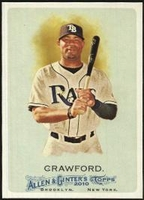 2010 Topps Allen and Ginter Carl Crawford Baseball Card
