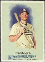 2010 Topps Allen and Ginter Chase Headley Baseball Card