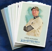 2010 Topps Allen and Ginter Detroit Tigers Baseball Card Team Set
