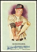 2010 Topps Allen and Ginter Grady Sizemore Baseball Card