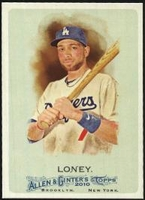 2010 Topps Allen and Ginter James Loney Baseball Card
