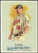 2010 Topps Allen and Ginter Jason Kubel Baseball Card