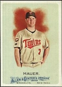 2010 Topps Allen and Ginter Joe Mauer Baseball Card