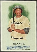 2010 Topps Allen and Ginter Kyle Blanks Baseball Card