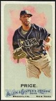 2010 Topps Allen and Ginter Mini A and G Back David Price Baseball Card