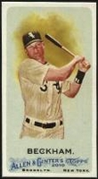 2010 Topps Allen and Ginter Mini A and G Back Gordon Beckham Baseball Card