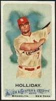 2010 Topps Allen and Ginter Mini A and G Back Matt Holliday Baseball Card