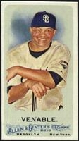 2010 Topps Allen and Ginter Mini A and G Back Will Venable Baseball Card
