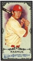 2010 Topps Allen and Ginter Mini Black Colby Rasmus Baseball Card