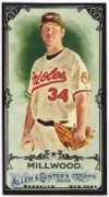 2010 Topps Allen and Ginter Mini Black Kevin Millwood Baseball Card