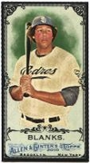 2010 Topps Allen and Ginter Mini Black Kyle Blanks Baseball Card