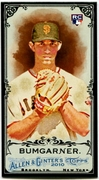 2010 Topps Allen and Ginter Mini Black Madison Bumgarner Baseball Card
