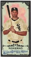 2010 Topps Allen and Ginter Mini Black Paul Konerko Baseball Card