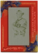 2010 Topps Allen and Ginter Mini Framed Printing Plates Yellow Mark DeRosa Card