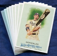 2010 Topps Allen and Ginter San Diego Padres Baseball Card Team Set