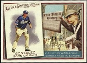 2010 Topps Allen and Ginter This Day in History Adrian Gonzalez Baseball Card