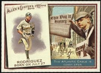 2010 Topps Allen and Ginter This Day in History Alex Rodriguez Baseball Card