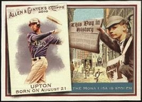 2010 Topps Allen and Ginter This Day in History B.J. Upton Baseball Card