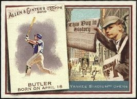 2010 Topps Allen and Ginter This Day in History Billy Butler Baseball Card