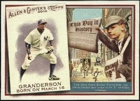 2010 Topps Allen and Ginter This Day in History Curtis Granderson Baseball Card