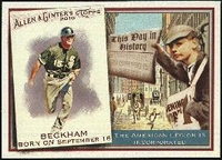 2010 Topps Allen and Ginter This Day in History Gordon Beckham Baseball Card