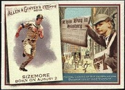 2010 Topps Allen and Ginter This Day in History Grady Sizemore Baseball Card