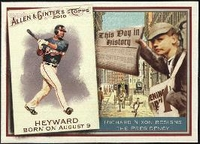 2010 Topps Allen and Ginter This Day in History Jason Heyward Baseball Card
