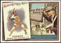 2010 Topps Allen and Ginter This Day in History Jorge Posada Baseball Card