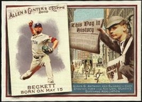 2010 Topps Allen and Ginter This Day in History Josh Beckett Baseball Card