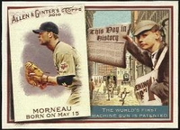 2010 Topps Allen and Ginter This Day in History Justin Morneau Baseball Card