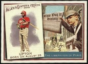 2010 Topps Allen and Ginter This Day in History Justin Upton Baseball Card