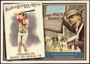 2010 Topps Allen and Ginter This Day in History Kevin Youkilis Baseball Card