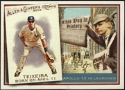 2010 Topps Allen and Ginter This Day in History Mark Teixeira Baseball Card
