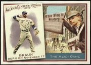 2010 Topps Allen and Ginter This Day in History Ryan Braun Baseball Card