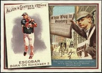 2010 Topps Allen and Ginter This Day in History Yunel Escobar Baseball Card