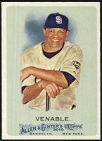 2010 Topps Allen and Ginter Will Venable Baseball Card