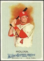 2010 Topps Allen and Ginter Yadier Molina Baseball Card