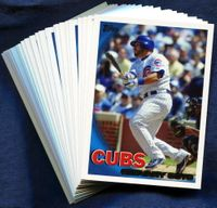 2010 Topps Chicago Cubs Baseball Cards Team Set
