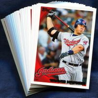 2010 Topps Cleveland Indians Baseball Cards Team Set