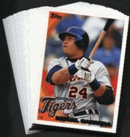 2010 Topps Detroit Tigers Baseball Cards Team Set