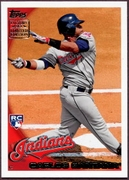 2010 Topps Factory Set Holiday Rookie Bonus Carlos Santana Baseball Card