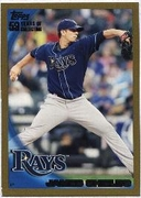 2010 Topps Gold James Shields Baseball Card