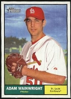 2010 Topps Heritage Adam Wainwright Baseball Card
