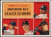 2010 Topps Heritage AL Home Run Leaders Carlos Pena & Mark Teixeira & Jason Bay & Aaron Hill Baseball Card