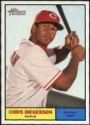 2010 Topps Heritage Chris Dickerson Baseball Card