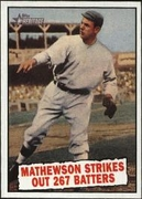 2010 Topps Heritage Christy Mathewson Baseball Thrills Baseball Card